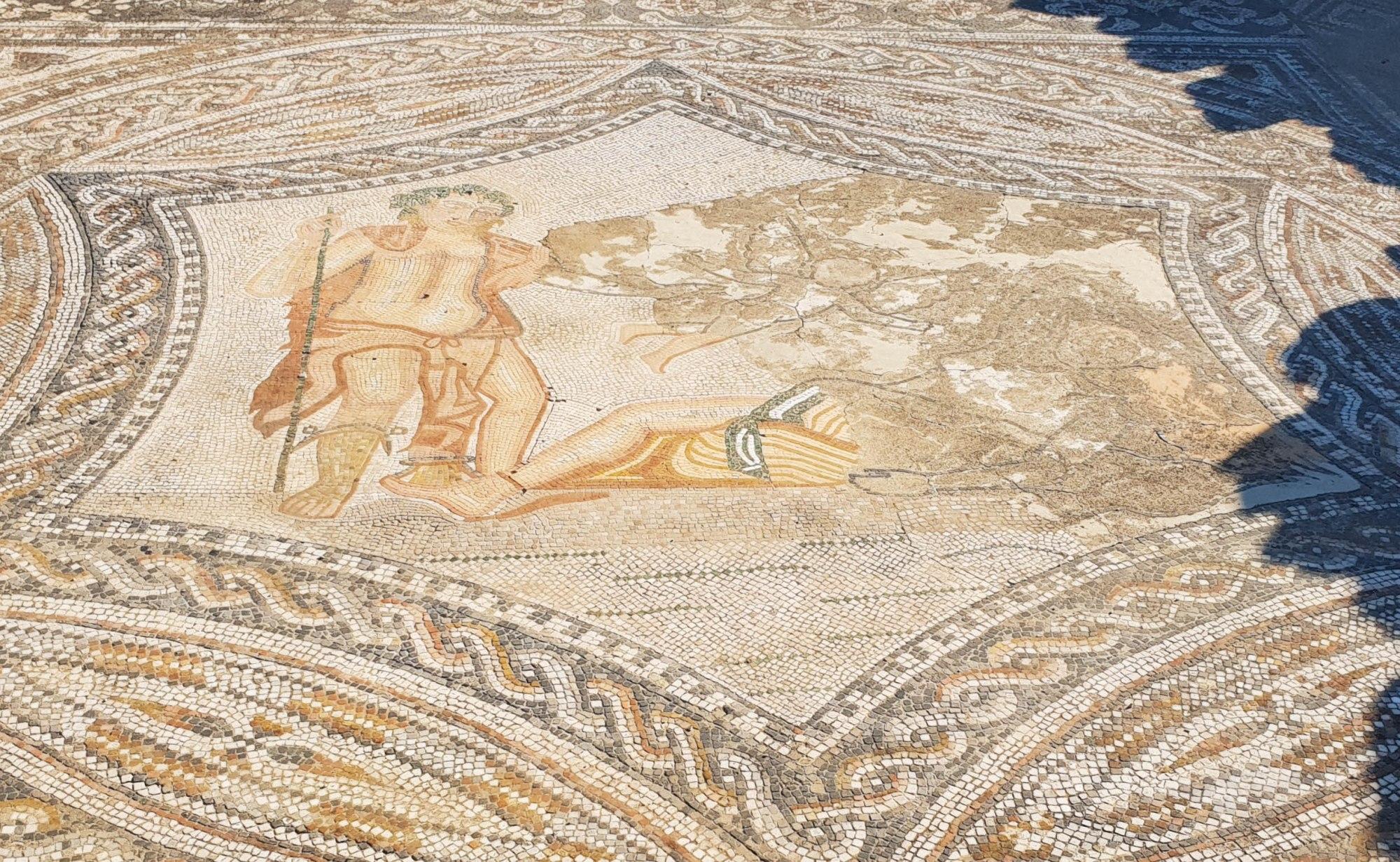 Représentations en mosaïques au site archéologique de Volubilis au Maroc