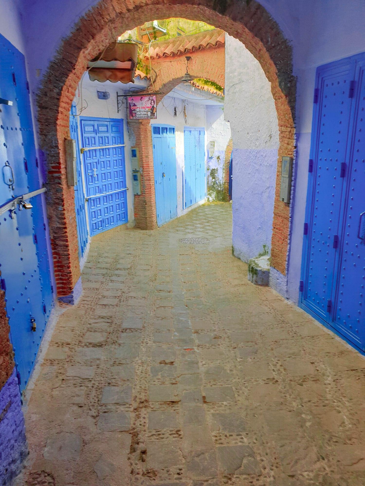 les ruelles de la Medina de Chefchaouen