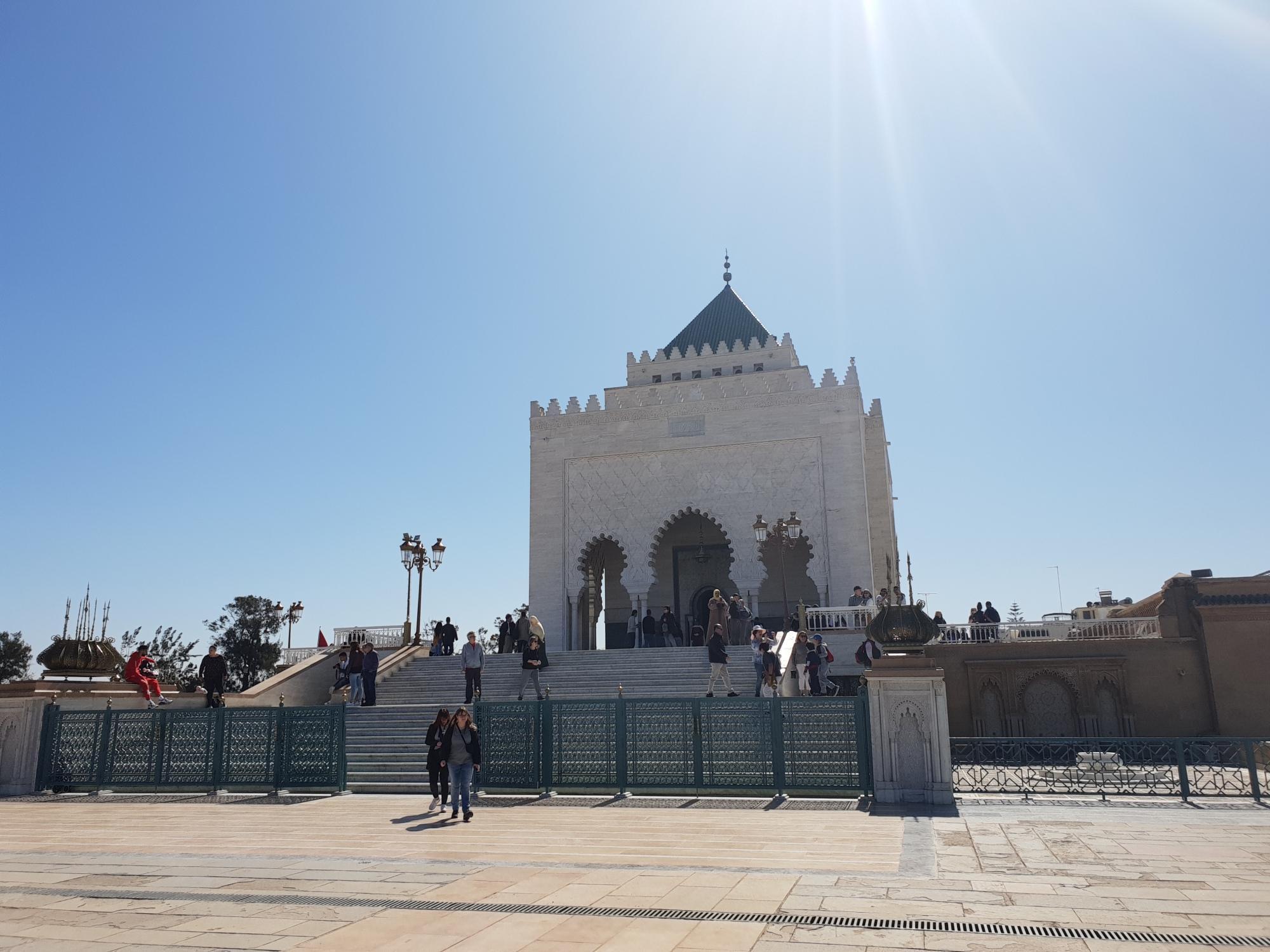 Le mausolée Mohammed V a Rabat au Maroc