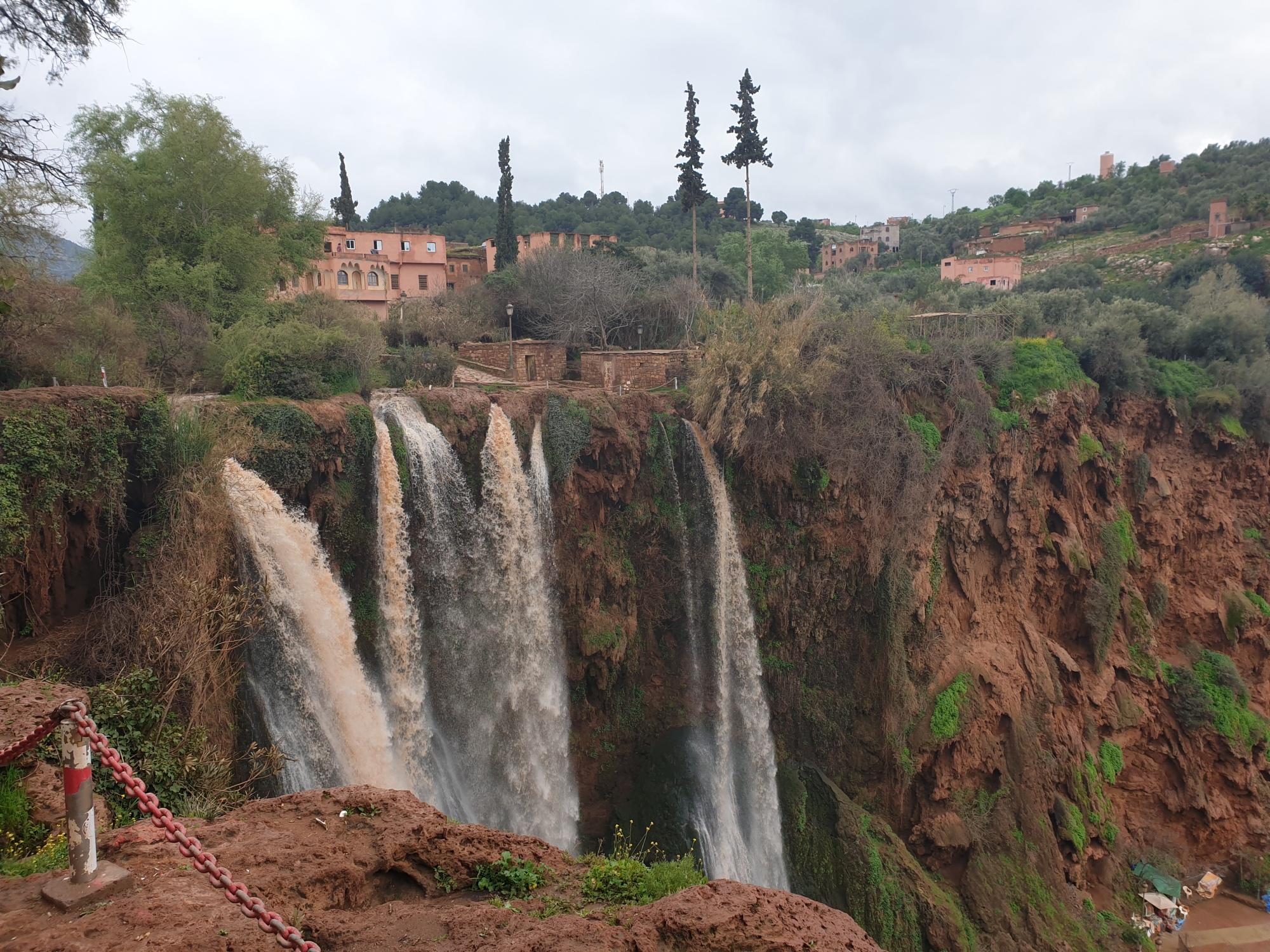 Cascade d'ouzoud au Maroc