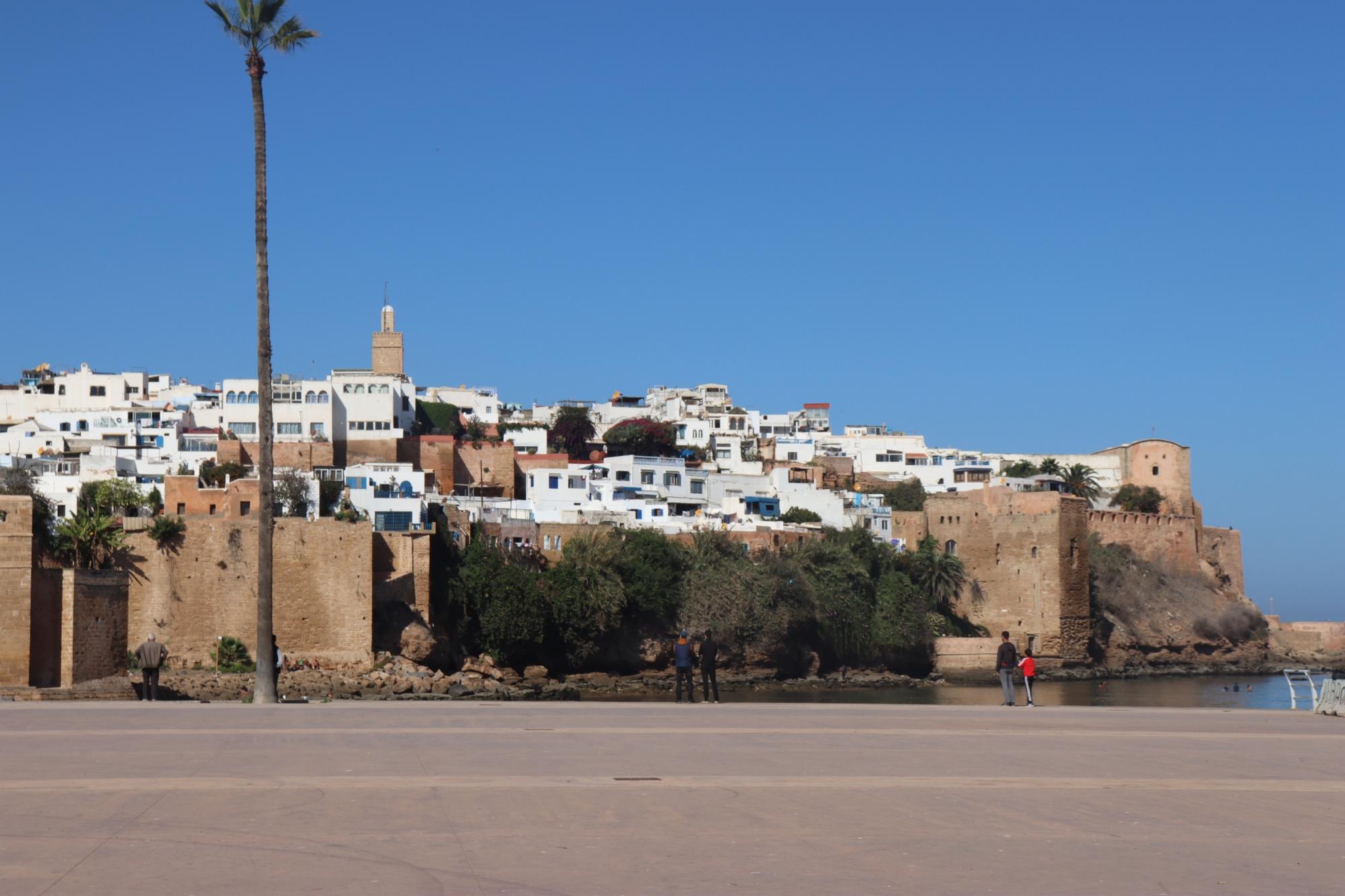 La Kasbah des Oudayas a Rabat vue depuis l'extérieur